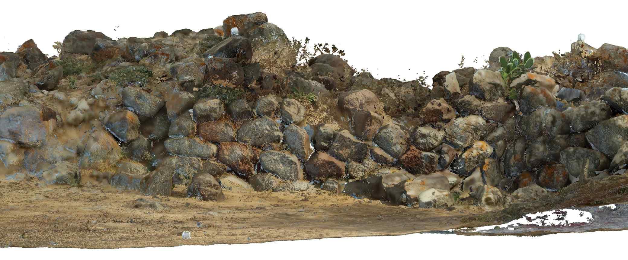 Proyecto Nuraghe – Prima Parte, prospetto ovest colorato